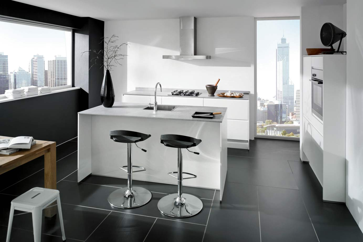Keuken ontwerp eettafel eiland - Eiland keukentafel ...